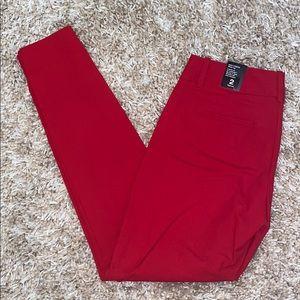 Red Skinny Legged Dress Pants - Extra Stretch